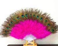 гусиные перья оптовых-Хороший вентилятор перо для танца реквизит рука гусиное перо складной вентилятор свадьба замечательный GA331