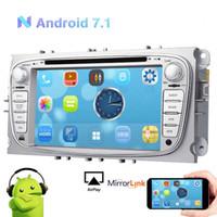 Wholesale ford focus s - EinCar Android 7.1 2GB RAM Car Stereo CAR DVD GPS Navigationfor Ford Mondeo Focus S-max Car CD Video Player Silver Autoradio HeadUnit