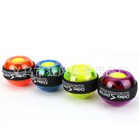 handgriffarmband großhandel-Zug-Finger-ergreifender Ball mit Bügel-Gyroskop-Eignungs-Kraft Streng-übung Leuchtender bunter Hand-Handgelenk-Kraft-Ball-starker 11kf jj