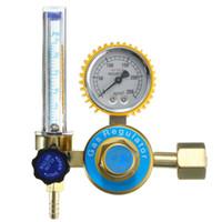 soldadura tig mig al por mayor-Regulador de gas Argón CO2 Mig Tig Medidor de flujo de soldadura de control de soldadura Calibre del regulador para soldador herramienta eléctrica CGA580 de alta calidad