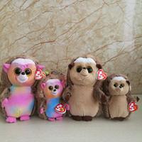 boo bebeği toptan satış-2 adet / grup 25 cm Ve 15 cm Ida Kirpi Peluş Oyuncak Ty Bere Boos Koleksiyon Büyük Gözlü Doldurulmuş Hayvan Doll Çocuk Oyuncak Doğum Günü Hediyesi