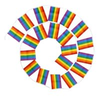 Wholesale rainbow 14 online - Wholesales CM m String Lesbian Gay Pride LGBT Flag Rainbow Banners Party Decorations Wedding Centerpieces Home Decor