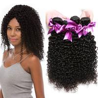 afro kinky kıvırcık insan saçı örgüleri toptan satış-8A Brezilyalı Kıvırcık Bakire Saç 4 Paketler Vizon Brezilya Afro Kinky Kıvırcık İnsan Saç Örgüleri Brezilyalı Sapıkça Kıvırcık Bakire Saç Demeti fiyatları