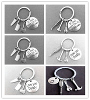 Wholesale Ordered Ring - Stainless Key Rings Key Chains If Dad Can't Fix it No One Can Bag Hangs Gifts Mix Order 6 Styles