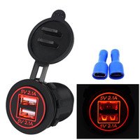 Wholesale outlet for motorcycles resale online - 5V A Dual USB Car Charger Universal Dual USB Port Power Outlet for V Motorcycle Car With Waterproof Dustproof Plastic Cover