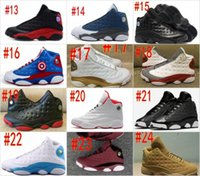 Wholesale Army Navy Game - retro 13 XIII men Shoes Chicago He Got Game Playoffs DMP GYM Red Bred Navy hologram grey toe Flint Grey Wheat Velvet Athletics Sport Sneaker