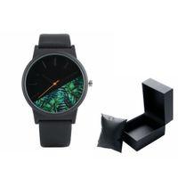мужские кожаные часы тонкие оптовых-Ultra-thin Dial Men Quartz Watches Top  Leather Band Strap Fashion Relogio Masculino Gift with Black Leather Box