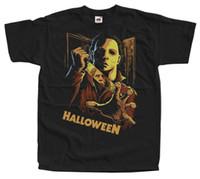 ingrosso corti carpentiere-Halloween V11, John Carpenter, poster 1978, T-Shirt (NERO) TUTTI I TAGLIE S-3XL Spedizione gratuita Maniche corte Cotone Moda