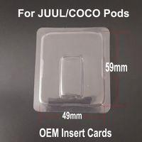 leere plastikpatronen großhandel-Neueste vape Hülsen Plastikverpackungs-Muschelschale für JUUL-Hülsen coco Hülse ultra bewegliche Vape Stift-leere Patronen-Hülsen Dhl-freies Verschiffen
