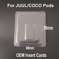 Wholesale free shipping dhl vape resale online - Newest vape Pods Plastic Packaging Clam Shell for JUUL Pods coco pod Ultra Portable Vape Pen Empty Cartridges Pods DHL