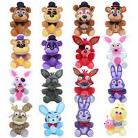 """caixa de bonecas barbies venda por atacado-10 """"cinco noites Freddy recheado brinquedos de pelúcia FNAF Freddy Fazbear urso Foxy coelho Bonnie Chica Peluche Juguetes"""