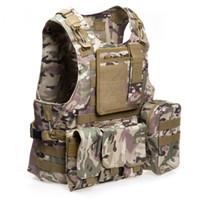 yelek avı toptan satış-Avcılık Ceketler Yeni Stil Amfibi Taktik Askeri Molle Yelek Savaş Assault Plaka Taşıyıcı Yelek Avcılık Koruma Yelek 1B