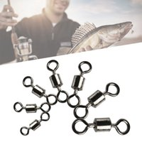 Wholesale ring force - American Style 8 Word Ring Ball Bearing Swivels With Split Rings Carp Connector Fishing Goods Strong Pulling Force GGA296
