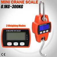 Wholesale industrial cranes for sale - 300kg Mini Crane Scale LCD Electronic Digital Display Industrial Hook Hanging Weight Scale Colors AAA737
