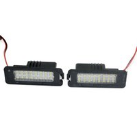 Wholesale vw polo mk6 resale online - Car No Error LED License Plate Light for Volkswagen VW Golf GTi MK5 MK6 R32 Rabbit CC EOS Polo Scirocco