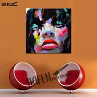 африканская масляная краска оптовых-Африканская Девушка Мастихин Рисунок Живопись Ручная Роспись Маслом На Холсте Стены Искусства Домашнего Декора