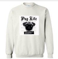 Wholesale life sized dogs - Pug Life Dog Funny Print Women Hoody Cotton Casual Sweatshirt Whtie Harajuku For Hipster Big Size Drop Ship TZ205-683