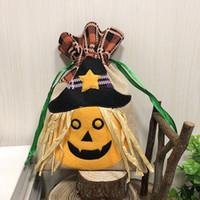 cadeaux commerciaux achat en gros de-Sacs de bonbons cadeau Halloween citrouille sorcière sacs de décoration cadeau chat noir pour centre commercial bar