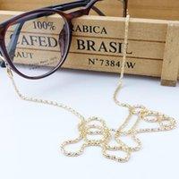 neue halskette großhandel-3 farbe neue brillen lesebrille brille sonnenbrille brillen ketten halter halsband metallband kette