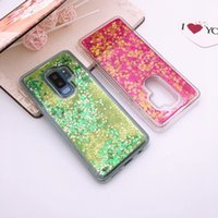 Wholesale Flow Case - Bling Quicksand TPU Soft Case For Samsung Galaxy S9 Plus NOTE8 Magic Fashion Flowing Sparkle Liquid Star Glitter Cell Phone Skin Cover 10pcs