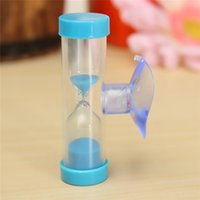 Wholesale Tooth Brush Cup - 3 Minute Modern Mini Sand Hourglass Timer Sandglass for Tooth Brushing Timer Shower with Suction Cup Convenient