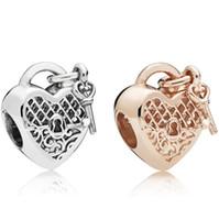 diy boncuklu mücevherat toptan satış-Lüks takı tasarımcısı gevşek boncuk kalp boncuklu DIY bilezikler oymak sıcak moda ücretsiz kargo