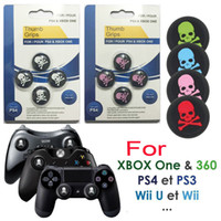 Wholesale xbox sets for sale - Group buy 4pcs set Silicone Skull Head Analog Controller Thumbstick Grip Thumb Grips Joystick Caps For PS4 PS3 Xbox One DHL FEDEX EMS