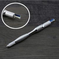 Wholesale Tattoo Pen Holder - New Tebori Microblading Eyebrow Line Pen Tattoo Machine For Permanent Makeup Eyebrow Tattoo Manual Blade Holder For Beginner