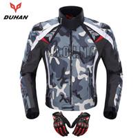 giyim kiyafeti toptan satış-DUHAN Motosiklet Ceket Motocross Off-Road Yarış Ceket Muhafızları Giyim Kamuflaj Alaşım Omuz Koruyucu Moto d117