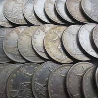 dólares comerciales al por mayor-Juego completo de monedas de EE. UU. (1873-1885) -P-S-CC 25 monedas comerciales en dólares de copia