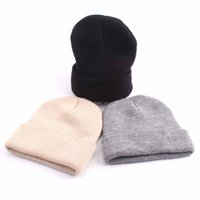 7f6284eaa5114f Wholesale kids yellow beanie for sale - Parent child Knitted Beanies Colors  Adults Kids Winter Casual