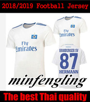 Wholesale hamburger man - 2018 2019 Hamburger SV soccer jersey home white 18 19 hsv Lewis Holtby Filip Kostic Aaron Hunt Bobby Wood football shirts top quality