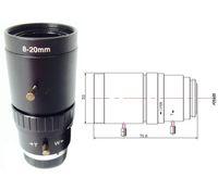 video el kitabı toptan satış-8-20mm HD güvenlik yol izleme manuel iris kamera video gözetim cctv lens video gözetim