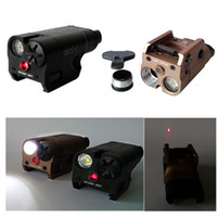 ingrosso mini torce tattiche-XC2 Laser Light Torcia a pistola compatta con Red Dot Laser Tactical LED MINI White Light 200 Lumens Airsoft Flashlight