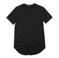 chemise blanche étendue achat en gros de-Mens Loose Tee Vêtements Designer Citi Tendances Vêtements T-shirt Homme Curved Hem Tee Plaine Blanc T-shirt étendu