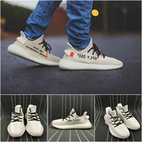 Wholesale sports hiking for sale - 2019 Butter Kanye West V2 Static Cream White Zebra New Arrival Originals Running Shoes Sply Runner Boots Sports Sneakers US