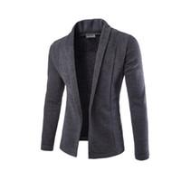 ceket toptan satış-Muhtasar V Yaka Kazak Ceket Hırka Kazak Erkekler Erkek Düz Renk Ince Erkek Hırka Kazak Ceket Adam Hırka Erkekler için Ücretsiz Bırak Gemi