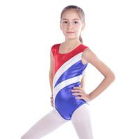 kinder bauchtanz tragen großhandel-2018 Neue Kleinkind Mädchen Ballett Kleid Athletic Dance Trikots Kleid Ballett Gymnastik Trikots Akrobatik Kinder Tanzen Tragen Farben