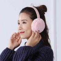 ohrenschützer verkauf großhandel-Ohrenschützer Plüsch Warm Faltbare Weihnachtsgeschenke Einfarbig Ohrwärmer Für Winter Best Sale-WT