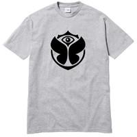 dj rosa venda por atacado-Tomorrowland Logo 3 cores T-shirt EDM DJ Rosa Branco Cinza Music Festival