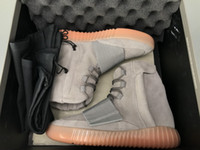 Wholesale womens gray boots - 750 Boost Grey Gum Shoes Best 2018 Mens Womens Shoe Boot 750 Glow in the Dark Chocolate All Black OG Gray Brown