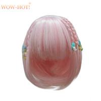 ingrosso bambole lunghe-1/8 Bjd Doll Wigs per Lati Dolls Filo ad alta temperatura Capelli sintetici ricci lunghi per BJD Dolls Accessorries Short Wigs