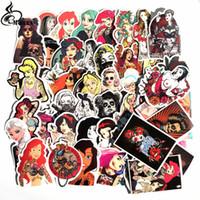 etiqueta sexy de dibujos animados al por mayor-50 Unids sexy belleza tatuaje Pvc Pegatinas A Prueba de agua Para el Ordenador Portátil de dibujos animados graffiti Equipaje Calcomanía de la Guitarra Divertido Juguete Etiqueta de la Decoración del hogar