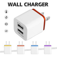 Wholesale travel adaptor usb - Dual Ports Wall Charger US EU Plug Travel Adapter 5V 3.1A Convenient Power Adaptor with Twice USB Ports For Mobile Phones