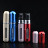 Wholesale High quality portable spray perfume bottle ml aluminum metal perfume bottle cosmetic travel bottle perfume atomizer spray
