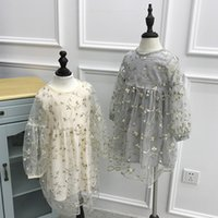 Wholesale baby girl long sleeved dresses resale online - 2018 New Design Beautiful Baby Kids Girls Spring Summer Princess Long sleeved Lace Flowers Casual Dresses Party Dressing