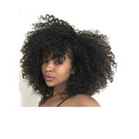 ingrosso parrucca ricci brasiliana afro kinky-capelli brasiliani africani Ameri bob afro ricci crespi parrucca di simulazione parrucca capelli umani ricci con botto in magazzino