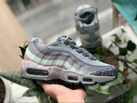 Wholesale shoe air camo - 2018 New Arrival 95 Se Camo Mesh ESSENTIAL Breathable Running Shoes Men Women Sport Shoes Air Cushion 95s Sneakers athletics