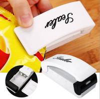 paquetes calientes al por mayor-Máquina selladora de bolsas de plástico portátil para bolsas de plástico Sellador térmico para bolsas de cereales Food Saver OOA5250