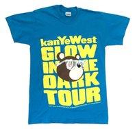 t-shirt offiziell großhandel-Kanye West-Glühen im dunklen Ausflug-Blau-T-Shirt Neuer offizieller NOS 2007 Murakami